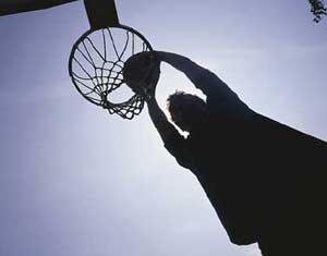 FLIGHT OF THE BASKETBALL PLAYER
