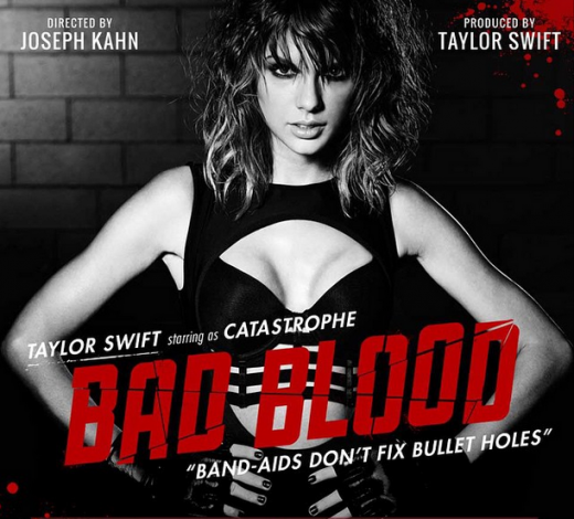 One of Swift's Bad Blood teasers that she put on social media