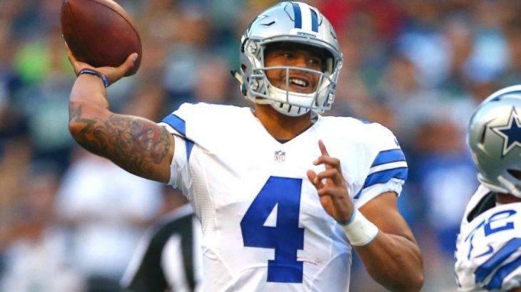 Cowboys+superstar+quarterback+Dak+Prescott%2C+who+is+a+sophomore+in+the+NFL