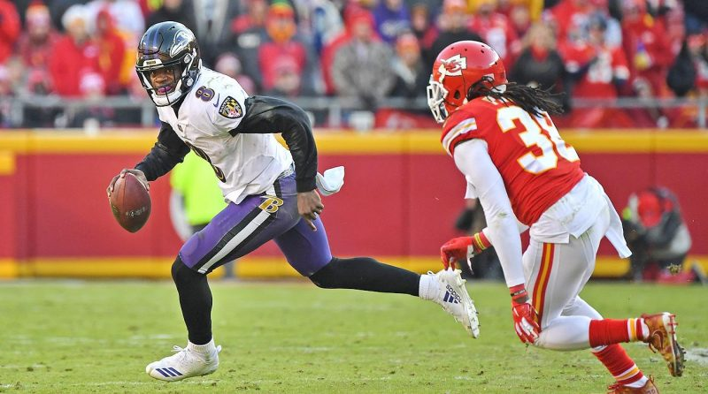 Baltimore+Ravens+quarterback+Lamar+Jackson%2C+who+has+made+an+early+case+for+MVP.%0A