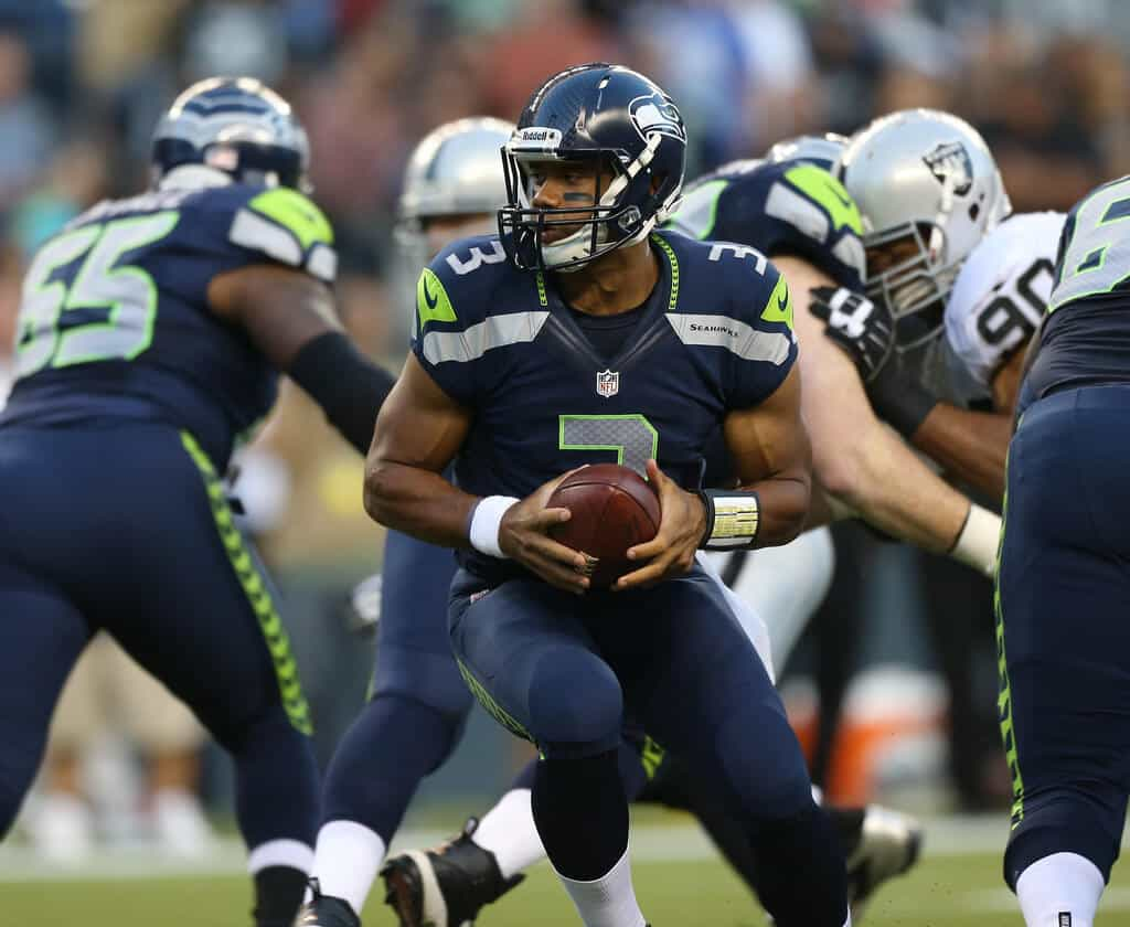 Seattle Seahawks quarterback Russell Wilson, who leads the MVP race