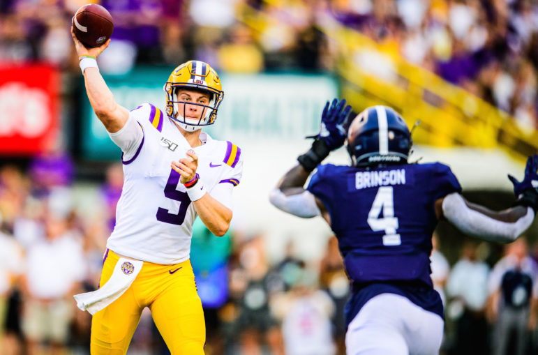 LSU+star+quarterback+Joe+Burrow%2C+who+is+the+leading+candidate+for+the+Heisman+Trophy