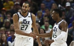 Utah Jazz teammates Rudy Gobert and Donovan Mitchell, who were both diagnosed with COVID-19
