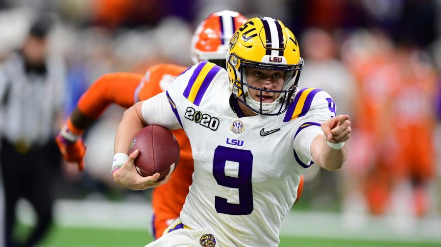 LSU+quarterback+Joe+Burrow%2C+who+is+expected+to+be+drafted+%231+overall+by+the+Cincinnati+Bengals