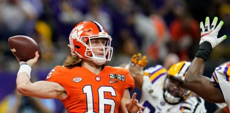 Trevor Lawrence, who is projected as the #1 overall pick in all of my mock drafts