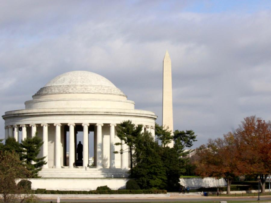 Jefferson and Washington Memorials