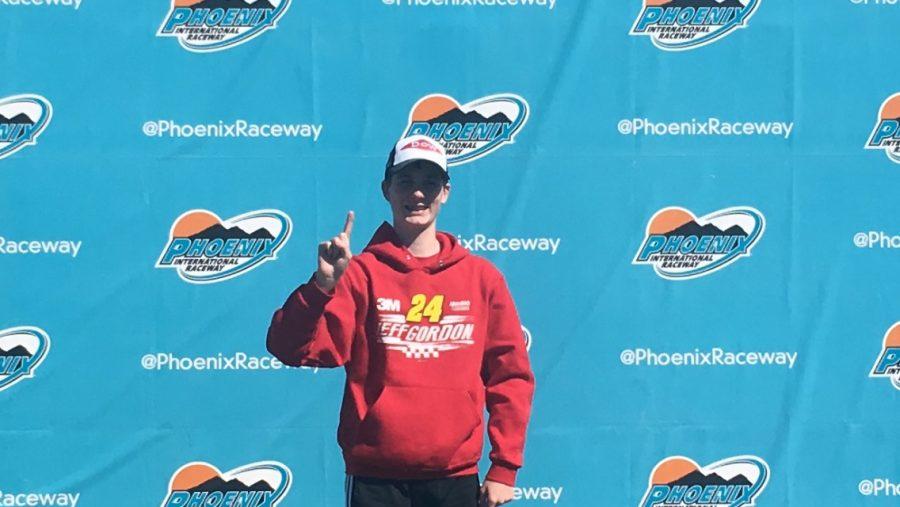 Me in Victory Lane at Phoenix International Raceway