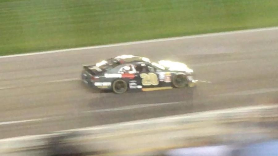 Erik Jones racing at Texas