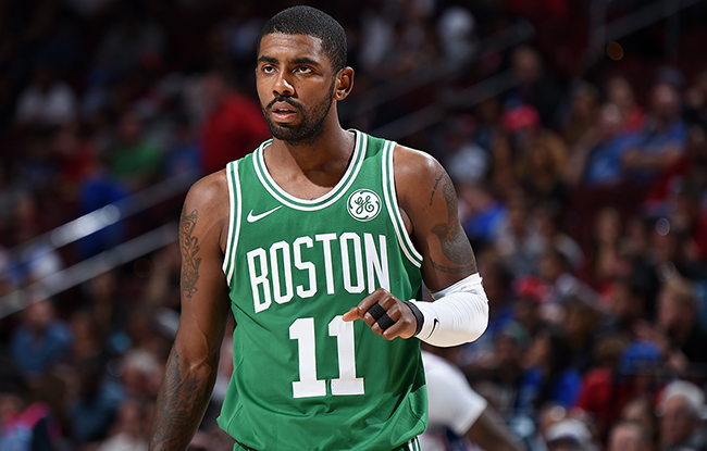 Kyrie Irving, who has been a huge factor in the lack of success for Boston.
