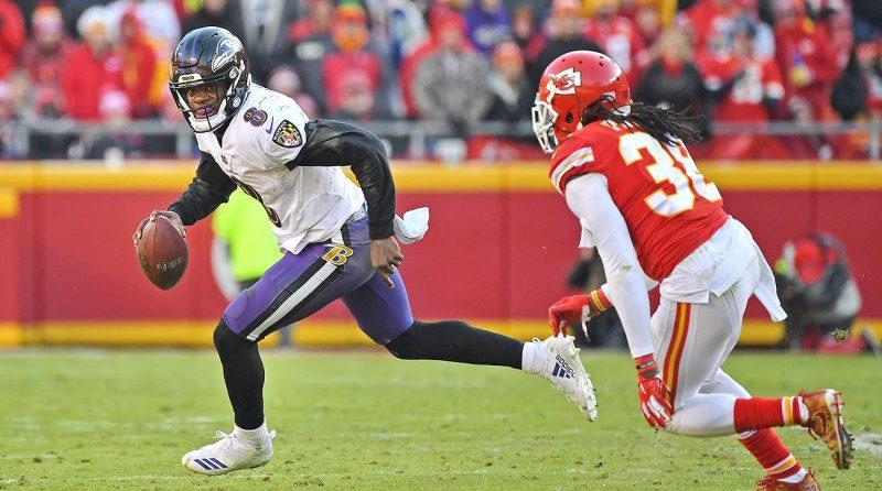 Baltimore Ravens quarterback Lamar Jackson, who has made an early case for MVP.