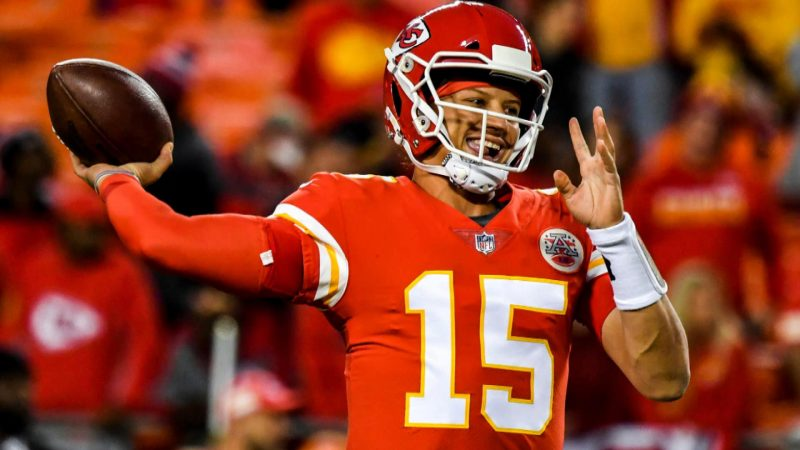 Patrick Mahomes, who currently leads the NFL in passing yardage