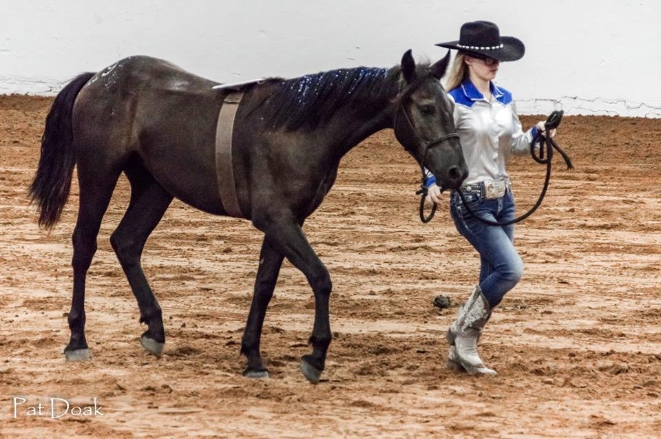 Shelby Hunsucker and her horse, Buckley