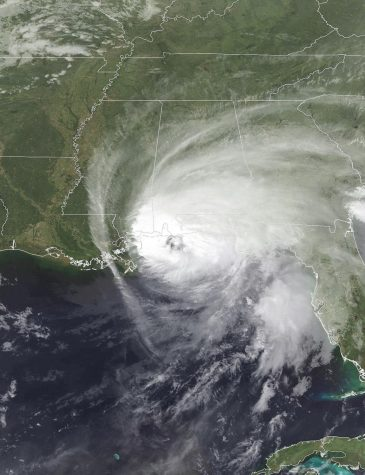 Hurricane Sally as it makes landfall on the United States Gulf Coast