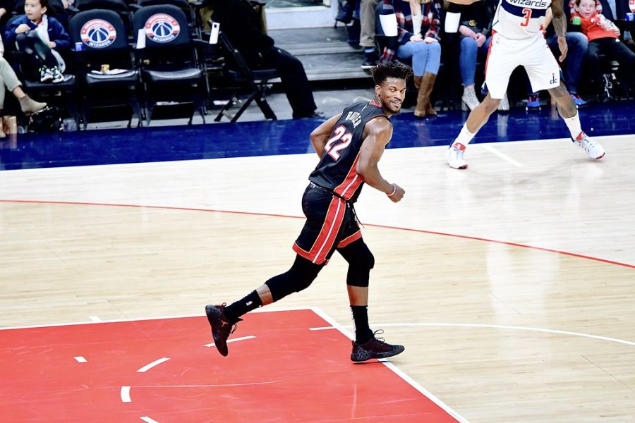 Jimmy Butler in action as a member of the Heat